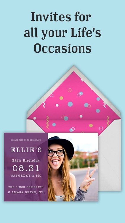 Invitation Maker & Party Cards screenshot-3