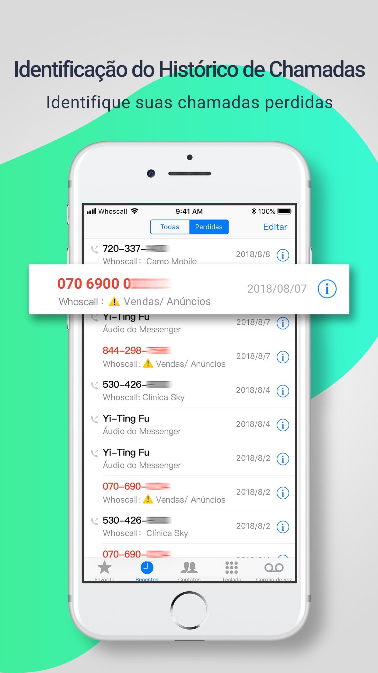 Screenshot do app Whoscall