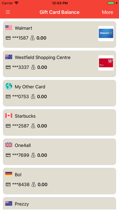 Gift Card Balance + Screenshot