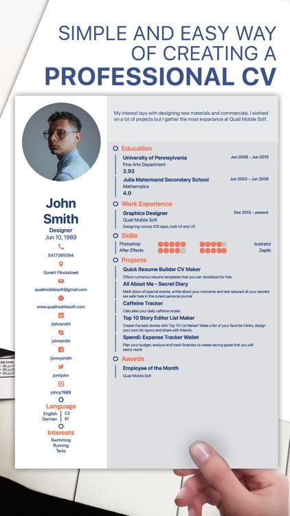 Resume Generator Cv Designer By Petar Ljubic