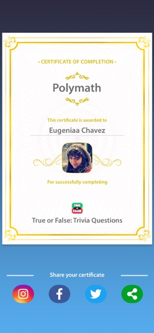 True or False:Trivia Questions on the App Store