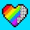 彩虹数字填色