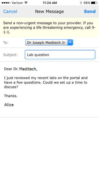 messages.download MEDITECH MHealth software