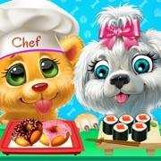 可爱的宠物厨房烹饪