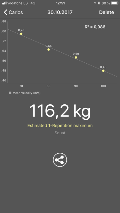 Screenshot #3 pour My Lift: Measure your strength