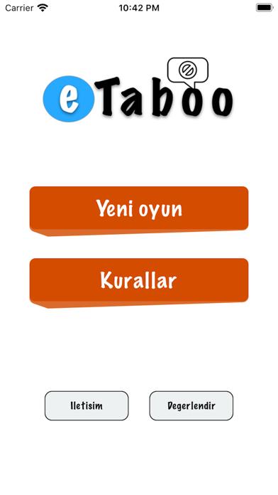 eTaboo screenshot 1