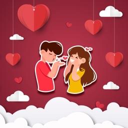 Love Story Stickers Valentine