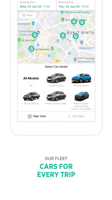 GoCar Malaysia: Car Sharing screenshot two