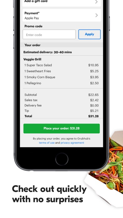 Grubhub: Local Food Delivery Screenshot