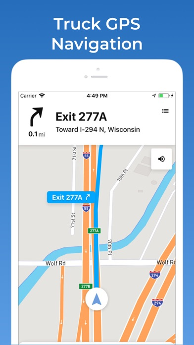 Screenshot for TruckMap - Truck GPS Routes in United States App Store