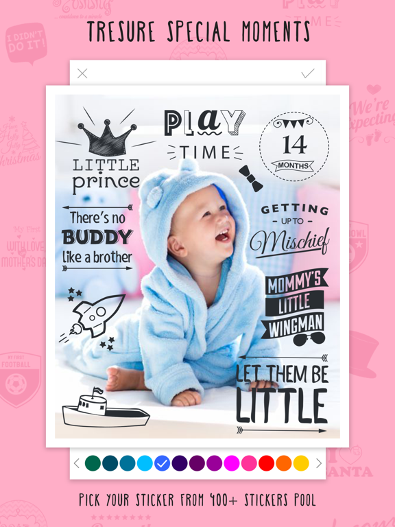 Giggly- Baby First Months,Newborn Name,Pregnancy Due Date & Maternity Countdown Photo Editor screenshot
