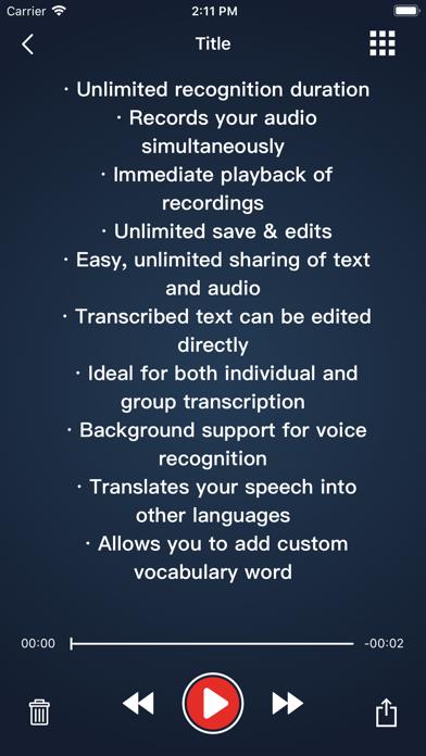 Voice Dictation - Speechy Lite screenshot two