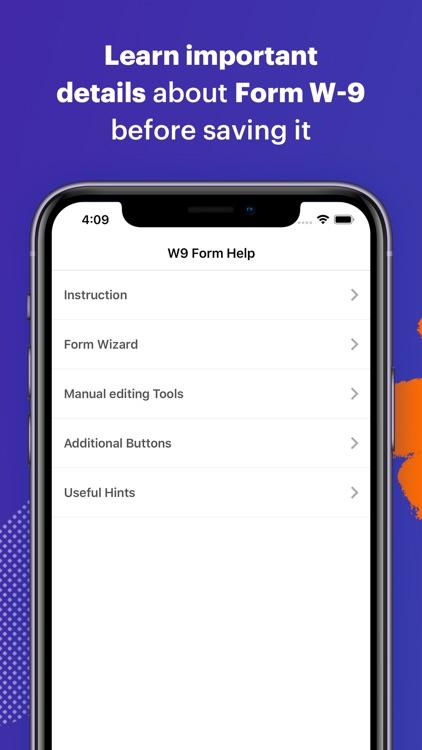 W-9 Form - PDF Template screenshot-3