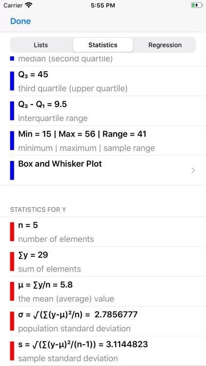 Statistics Calculator++ screenshot-6