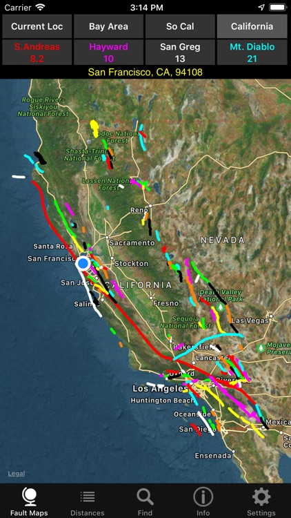 California Earthquake Faults screenshot-3