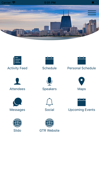Screenshot of GTR Events App