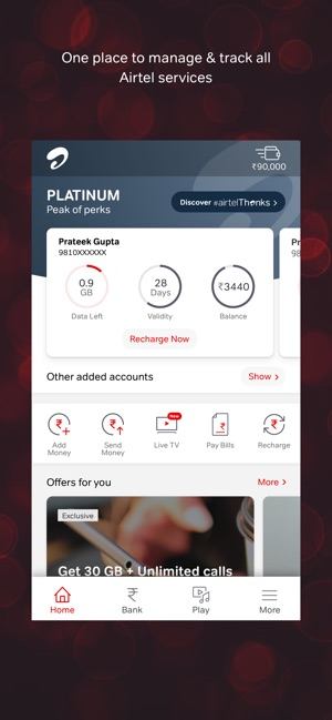 Airtel Thanks- Recharge & Bank on the App Store