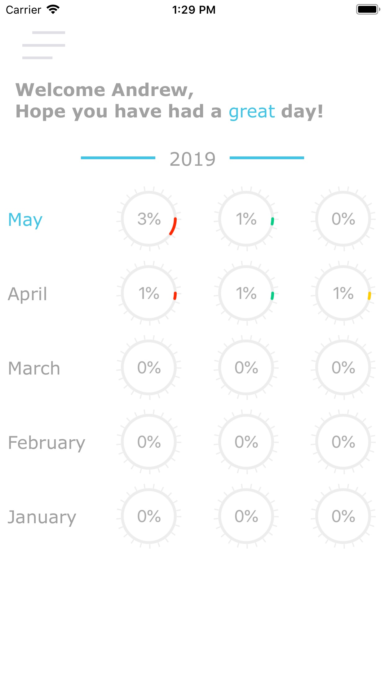 Screenshot do app Rate My Day!