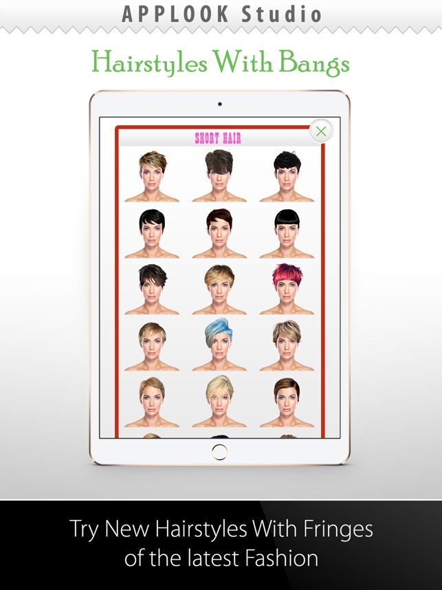 Pleasant Hairstyle Try On With Bangs On The App Store Natural Hairstyles Runnerswayorg