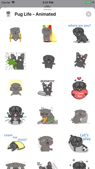 Pug Life - Animated screenshot 3
