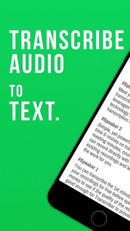 Transcribe Voice to Text by WBS