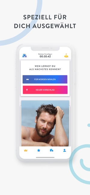 Neue Dating-App einmal