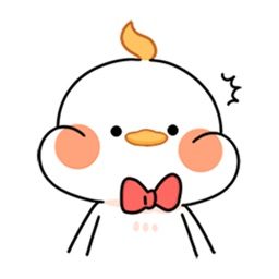 Cute fat chicken expression