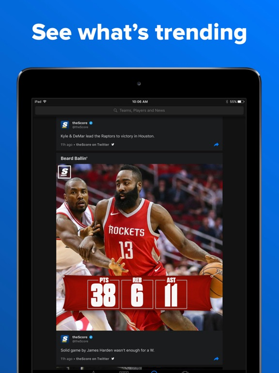 theScore Mobile screenshot