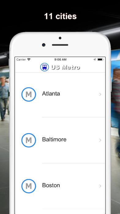Screenshot #1 pour US Métro - Washington, NYC, LA