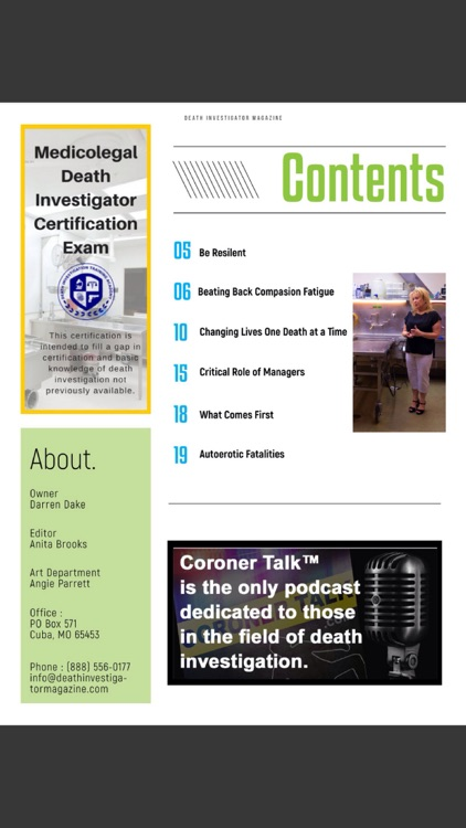 Death Investigator Magazine