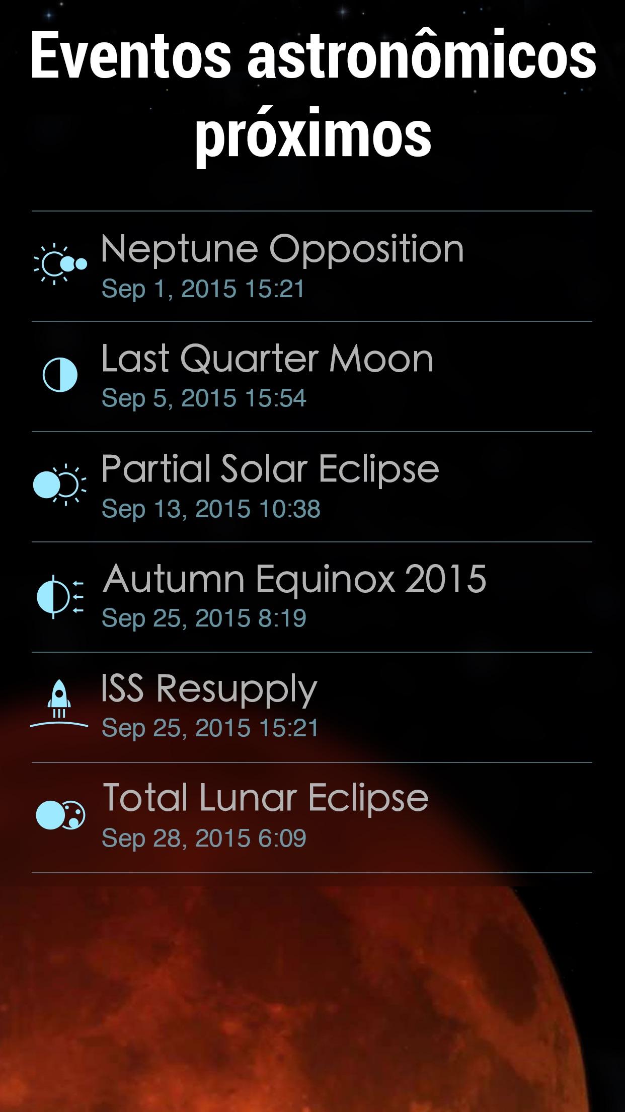 Screenshot do app Solar Walk 2 - Espaçonaves 3D