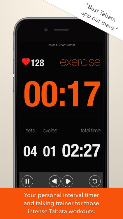 Tabata Stopwatch Pro (Paid) screenshot-0