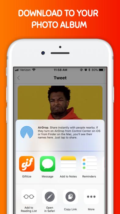 Gifitize — Save Twitter Gifs screenshot three