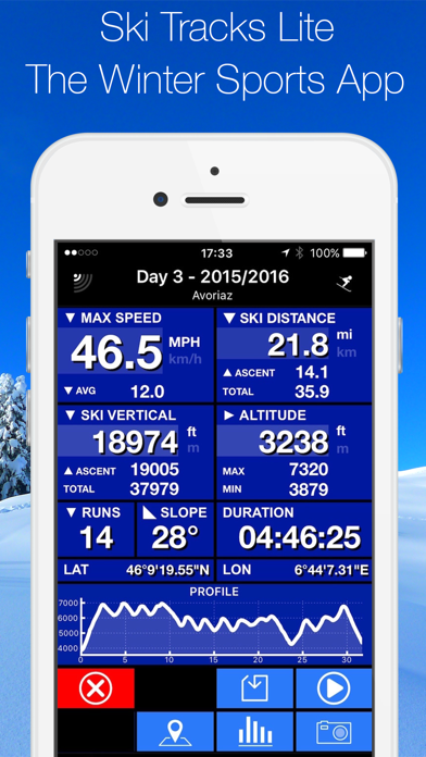 SKI TRACKS LITE - GPS TRACK RECORDER screenshot