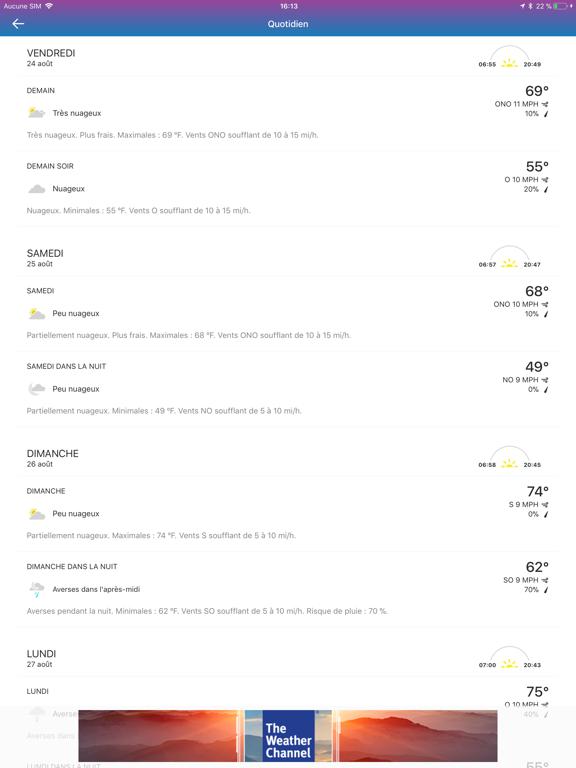 Screenshot #6 pour The Weather Channel: prévision