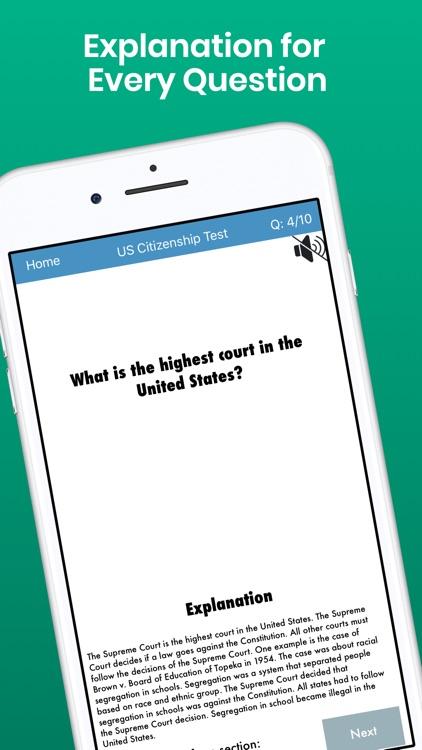 Citizenship Test with Audio screenshot-5