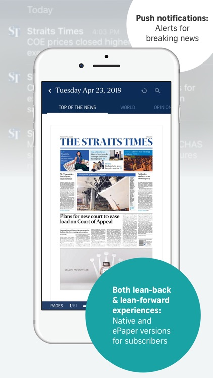 The Straits Times for iPhone screenshot-3