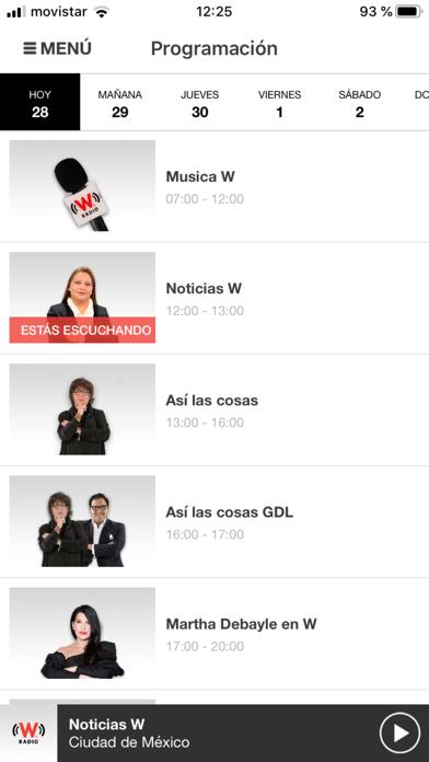 WRadio México para iPhoneCaptura de pantalla de5