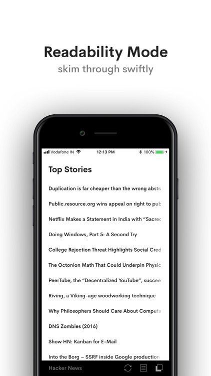 Hacker News YC Reader by Arun Reddy