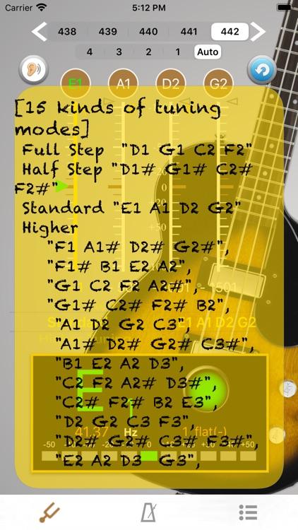 BassTuner - Tuner Bass Guitar screenshot-3