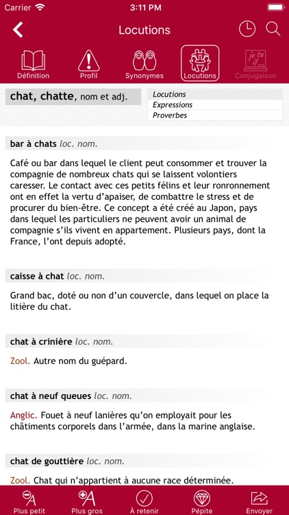 Dictionnaire Le Robert Mobile screenshot-5