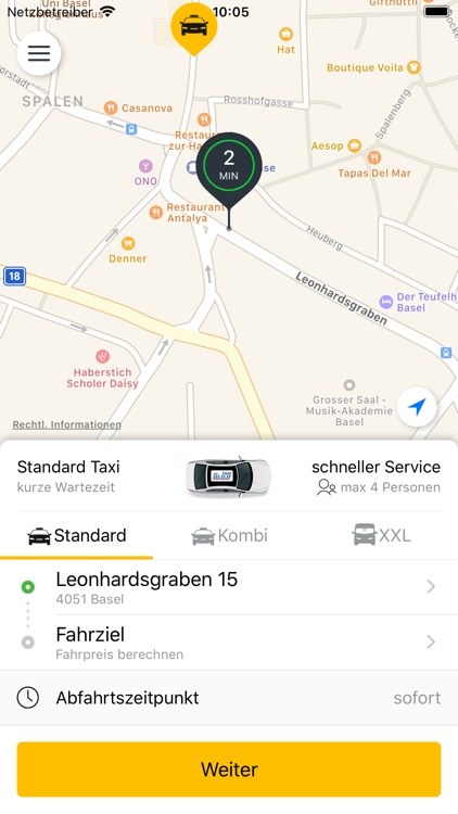 33er Taxi AG, Basel screenshot-0