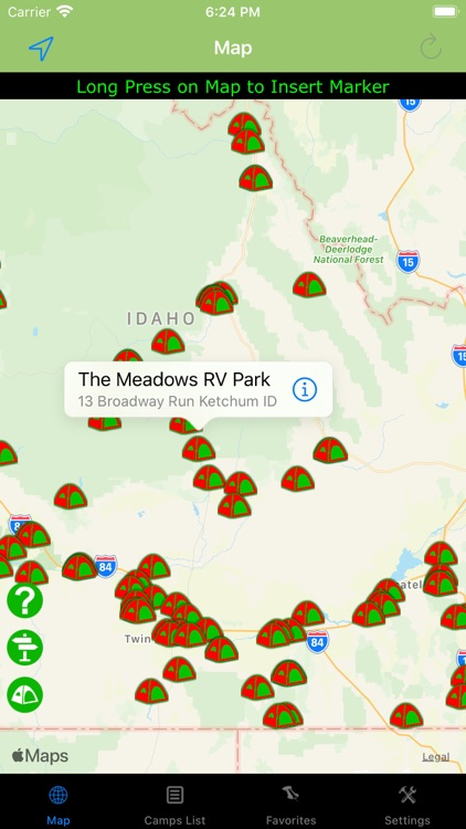 Idaho – Camping & RV spots screenshot-0