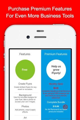 Screenshot of Flyerly Biz: Create & Share