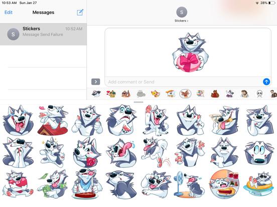 Husky Boy Emoji Stickers screenshot 5