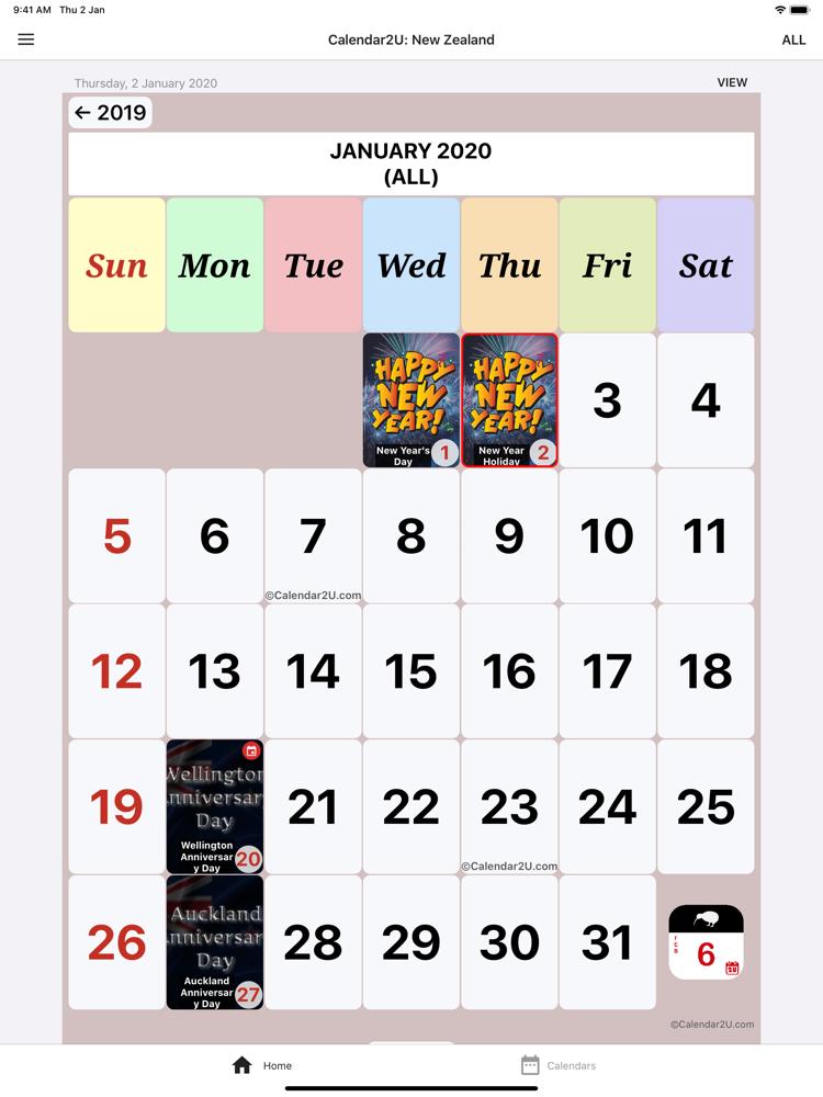 New Zealand Calendar 2020-2021 App for iPhone - Free ...