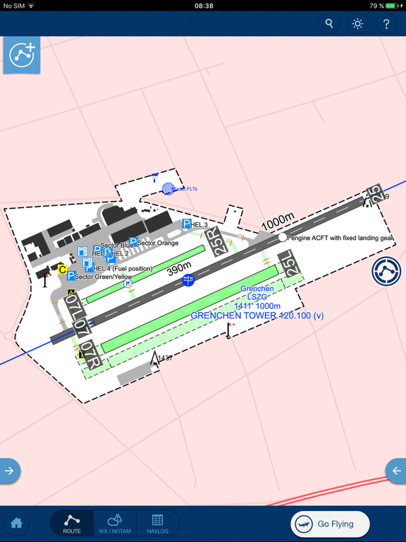 Jeppesen Mobile FliteDeck VFR screenshot three