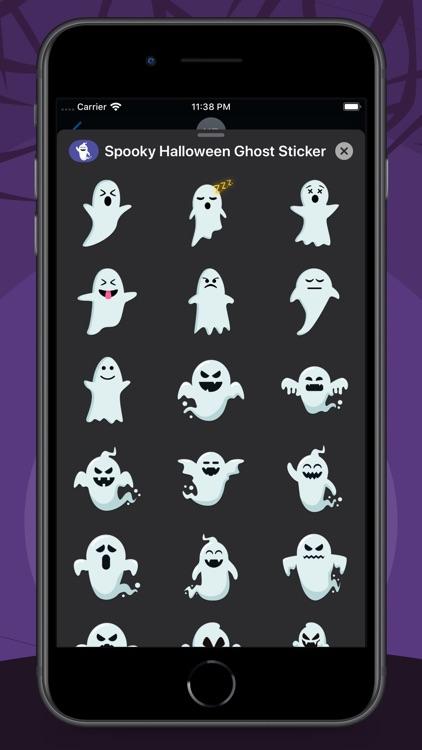 Spooky Halloween Ghost Sticker screenshot-3