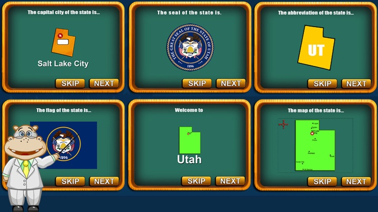 Fifty States and Capitals Game screenshot-3