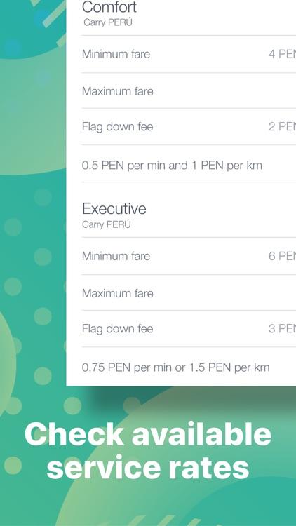 Carry: order taxi in Peru screenshot-4